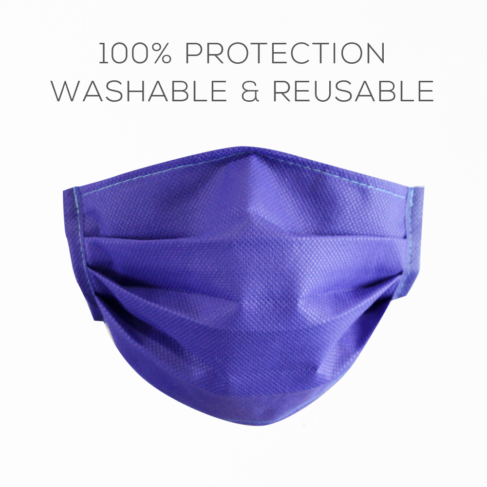 Image of 3ply Non-Woven Face Mask | Washable & Reusable W/ Nose Wire Shield