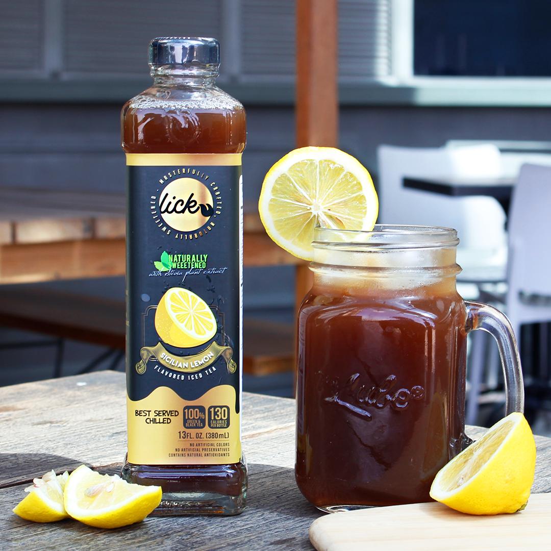 Image of Lick Iced Tea Sicilian Lemon - Lemon Flavored Iced Tea