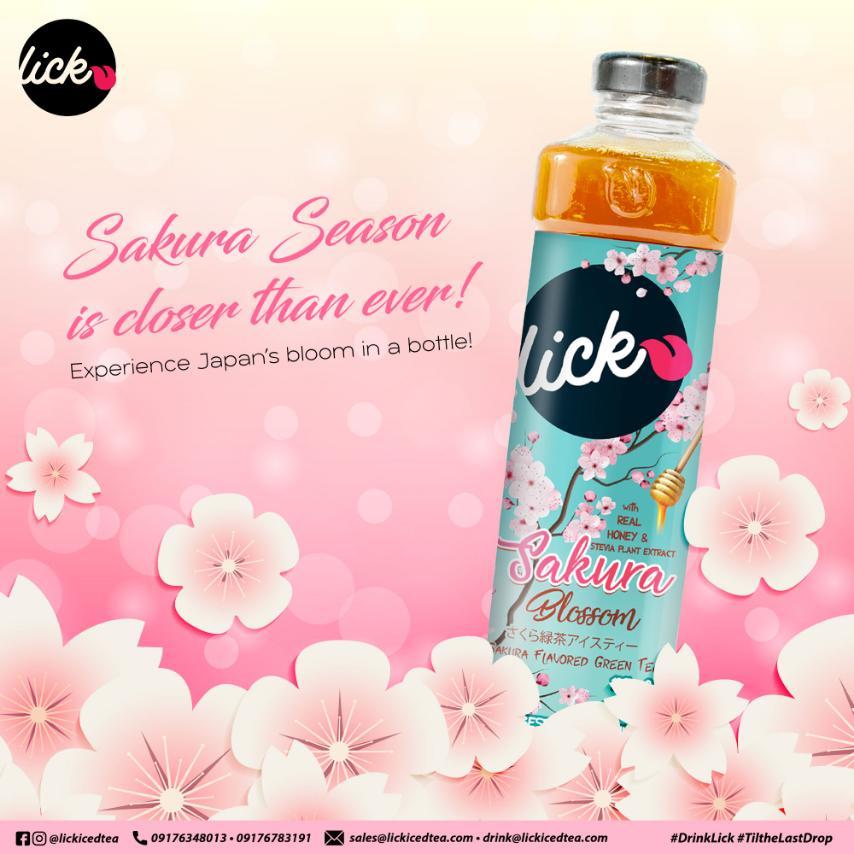 Image of Lick Iced Tea Sakura Blossom - Sakura Flavored Green Tea